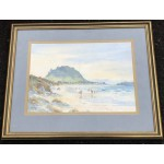 Original Watercolour Of Mount Maunganui Beach by A Christie - Lot 1113D HF