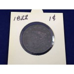 1822 USA Coronet Head One Cent (Penny) Coin - Lot 793C