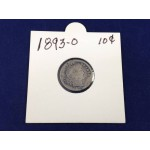 1893-O USA Barber Silver Dime (Key Date) - 10 Cents - Lot 792C
