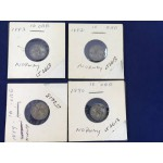 Group of Norway 10 Ore Silver Coins - 1882, 1883, 1889, 1890 - Higher Grades - L