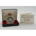 1983 New Zealand - Proof Coin in Plush Case - 50th Anniversary - Lot 538C