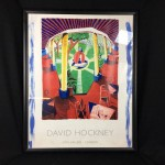 1984 David Hockney Views of Hotel Well III Large Framed Poster Print - Lot 580D