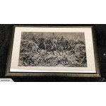 Large Framed  Print 'Straight Into The Guns' by R Caton Woodville - Lot 1127D