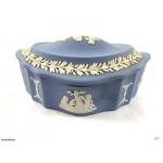 Antique Wedgwood Jasperware Lidded Dish /Jewelery Box - Lot 768E