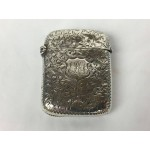 1895 Antique Engraved Sterling Silver Vesta Case - 126F