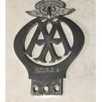 Antique  No. 614. Original AA Auckland Car Badge - Lot 311A