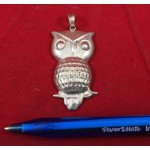Large Antique Sterling Silver Owl or Morepork Pendant - Lot 334 - FH