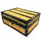 Antique Victorian Teak & Porcupine Quill Jewellery Box  - Lot 7G