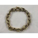 18ct Gold Semi Antique Chunky Bracelet - Lot 565C