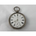 Antique Sterling Silver Key Wind Pocket Watch with Sub Second Dial - Lot 576C