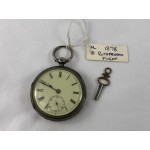 1878 Antique Fusee Sterling Silver Key Wind Pocket Watch - Rotherham - Lot 577C