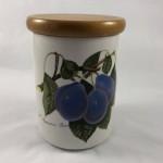 Portmeirion Pomona - L Imperatrice Plum - Medium Storage Jar & Lid - Lot 822E