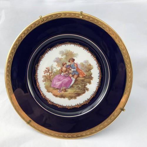 Vintage Limoges Castel Cobalt Blue - Large Display Plate - Lot 869E