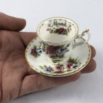 """Royal Albert Miniature Duo - Flower of the Month """"March"""" - Lot 882E"""