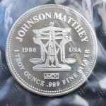 .999 Pure Silver 1oz USA Johnson Matthey Silver Round - Lot 657C