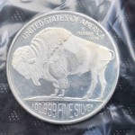 .999 Pure Silver 1oz USA Buffalo Silver Round - V1 - Lot 651C