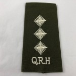Military Cloth Badge - Captain QRH (Queen's Royal Hussars) - Lot 683C