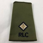 Military Cloth Badge - RLC - Second Lieutenant (Royal Logistic Corps) - Lot 684C