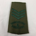 Military Cloth Badge - Staff Sargent - Worcesters & Foresters - Lot 685C