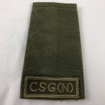 Military Cloth Badge - C.S.G. (N) - Lot 687C