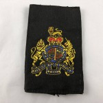 Military Cloth Badge - WO1 RTR Royal Tank Regiment with Queen Elizabeth's Crown