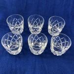 "Vintage Royal Brierley Crystal Set of Six ""Westminster"" Glasses - Lot 188F"