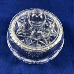 Vintage Stuart Crystal Round Trinket Box / Sugar with Lid - Lot 195F