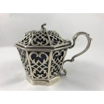 Antique 1850 Victorian Sterling Silver Octagonal Mustard Pot - Lot 28W