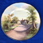 1947 Royal Worcester Tewkesbury Cabinet Plate - By Frank R Rushton - Lot 131W