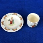 1940's Royal Doulton Bunnykins - Barbara Vernon - Egg Cup & Dish - Lot 127W