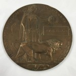 Original World War 1 Memorial Plaque to Irvine Benson - Lot 370C
