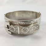 1884 Antique Sterling Silver Belt Buckle Bangle - Lot 409C