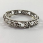 "Vintage Sterling Silver ""Playing Pussy Cat"" Bangle - Lot 408C"