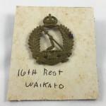 NZ 16th Waikato Regiment Cap Badge - Lot 490C