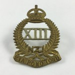 13th North Canterbury & Westland Regiment Cap Badge - 6/132 - Lot 483C