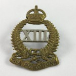 NZ 13th Nth Canterbury & Westland Regiment Cap Badge - Lot 491C