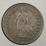 1928-B Switzerland 2 Franc's Silver Coin - Lot 886C