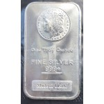 .999 Pure Silver 1oz USA Morgan Silver Bar - Lot 655C